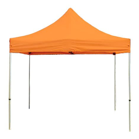 PopUp PREMIUM Gazebo 3x3 m without side panels classy polyester waterproof HOUSEOFTENTS marquee party tent orange