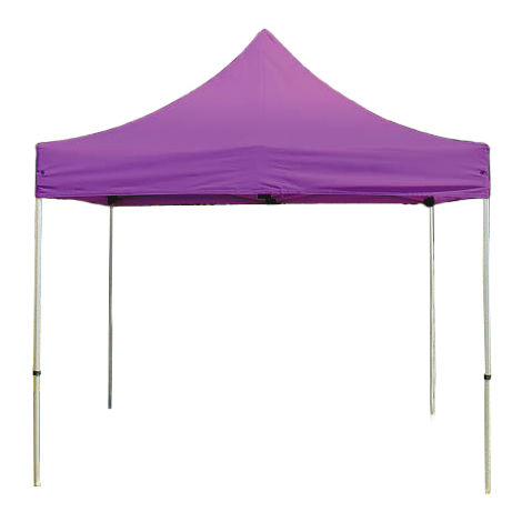 PopUp PREMIUM Gazebo 3x3 m without side panels classy polyester waterproof HOUSEOFTENTS marquee party tent purple
