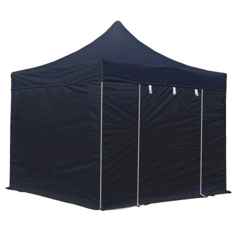 PopUp PREMIUM Gazebo 3x3 m without windows classy polyester waterproof HOUSEOFTENTS marquee party tent black