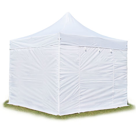 PopUp PREMIUM Gazebo 3x3 m without windows classy polyester waterproof HOUSEOFTENTS marquee party tent white