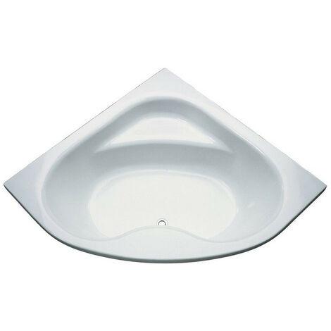 Porcher Baignoire D Angle Ulysse 2 A Encastrer Ou A Poser 135x135cm Blanc En Acrylique 190 Litres