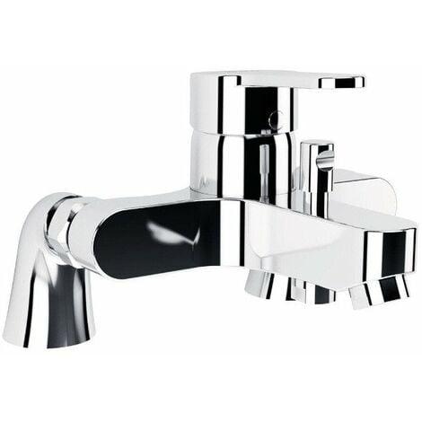 Porcher - Mitigeur de bain-douche Olyos avec colonne sans ensemble douche chromé
