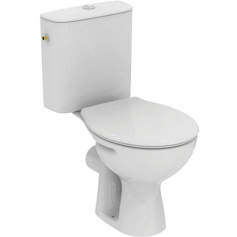 Porcher Pack WC à poser avec bride Noébis SH Alimentation latérale, blanc (P005601)