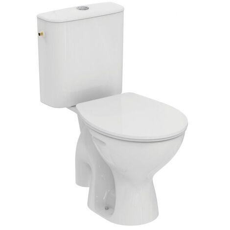 Porcher - Pack WC sur pied ULYSSE 2 prêt à poser 65x40 cm en porcelaine avec abattant blanc
