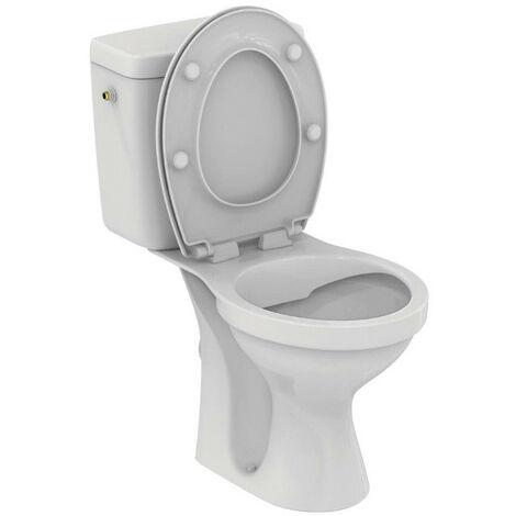 Porcher - Pack WC ULYSSE sans bride SH DC alimentation latérale abattant blanc