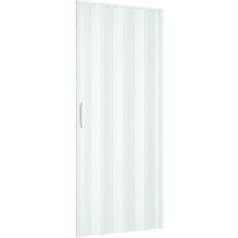 """main image of """"Porta a Soffietto da Interno 82x210 cm in PVC Mod. Extra Standard Bianco Pastello"""""""