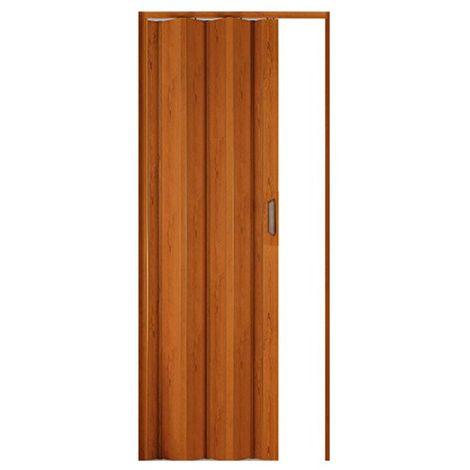 Porta a soffietto in PVC effetto legno ciliegio con maniglia 82x214cm