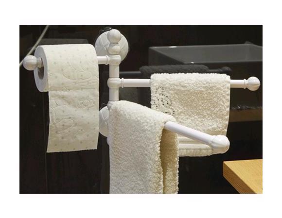 Accessori Da Bagno Con Ventosa : Porta asciugamani a parete con 3 aste da bagno con ventosa maurer