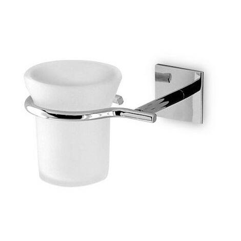 Accessori bagno da incollo : Mensola con porta bicchiere e