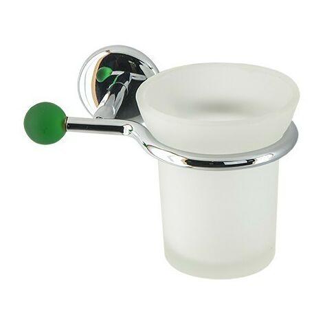 Accessori Bagno Colorati.Porta Bicchiere Da Bagno Linea Elite In Ottone Cromato E Finali In Vetro Colorato Accessori Bagno