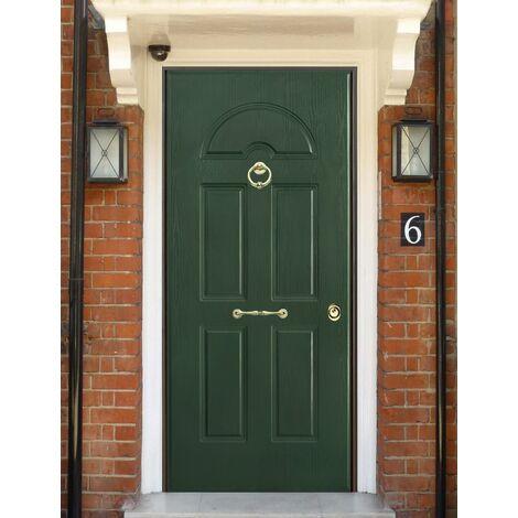 Porta Blindata Pannello da Esterno in PVC Classe 3 4 Portone per Ingresso Verde