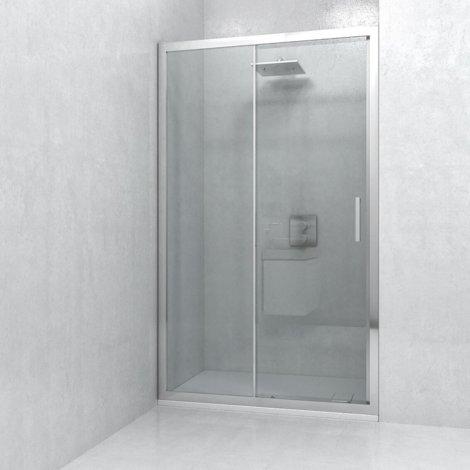 Porta Doccia 6mm Trasparente Anticalcare Adattabile +/-2,5cm