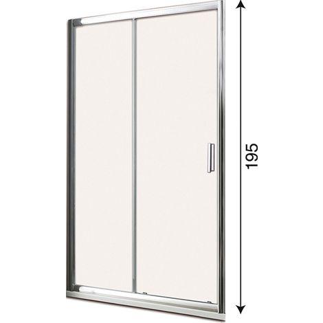 Porta doccia scorrevole 115 cm profilo cromato h195 cristallo trasparente 6mm