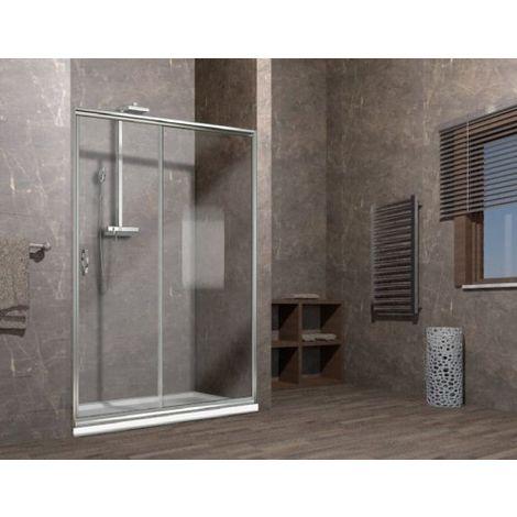 Porta doccia scorrevole nicchia cristallo 6mm elisir - Porta in cristallo scorrevole ...