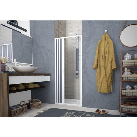 Porta doccia soffietto per box doccia nicchia profilo riducibile 60/140 cm PVC