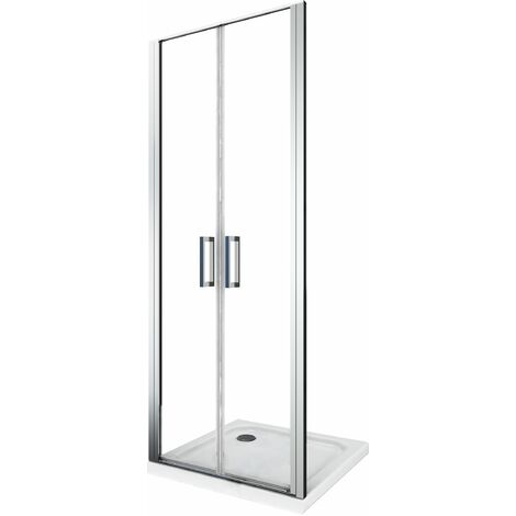Porta doccia vetro 6 mm apertura battente saloon dentro e fuori Altezza 190