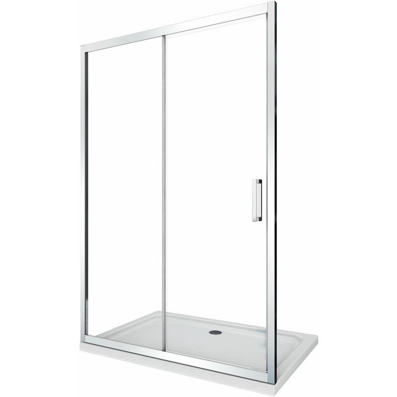 Porta doccia vetro 6 mm per installazione in nicchia Altezza 190 cm installazione reversibile cm 95 100
