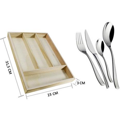 Porta posate in legno 4 posti forchette coltelli portaposate cucina ...