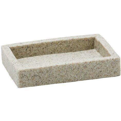 Porta Sapone Da Appoggio col Afra sabbia in poliresina mod