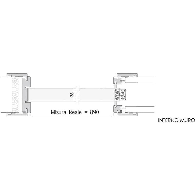 Porta Scorrevole A Scrigno In Legno 210x70 Cm Busatti Original Bianca