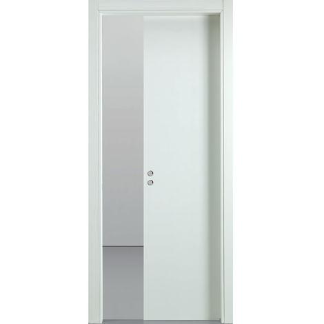 Porta Scorrevole A Scrigno In Legno 210x70 Cm Busatti Original Bianca -