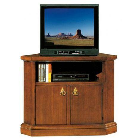 Mobile Porta Tv Legno Arte Povera.Porta Tv Ad Angolo In Legno Noce Arte Povera 2 Ante 105x63xh 80 Cm