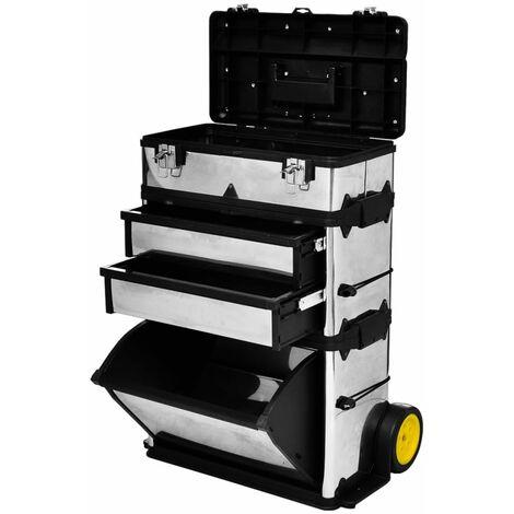 """main image of """"Porta Utensili Trolley con 2 Cassetti 2 Vani Strumenti Garage Portattrezzi"""""""
