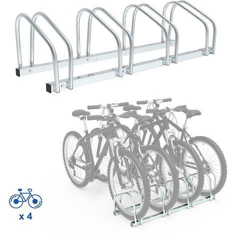 Portabici, Portabiciclette, Supporta 4 biciclette, Dimensione: 99 x 32 x 26 cm