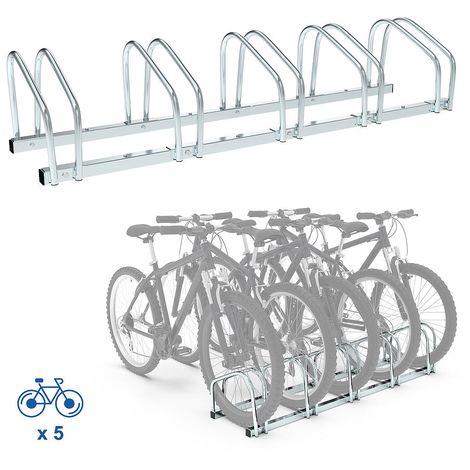 Portabici, Portabiciclette, Supporta 5 biciclette, Dimensione: 132 x 32 x 26 cm