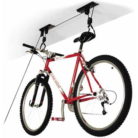 Portabici Sospensione Appendi Bici Soffitto Cantina Garage Carrucola 1 Bici 20KG