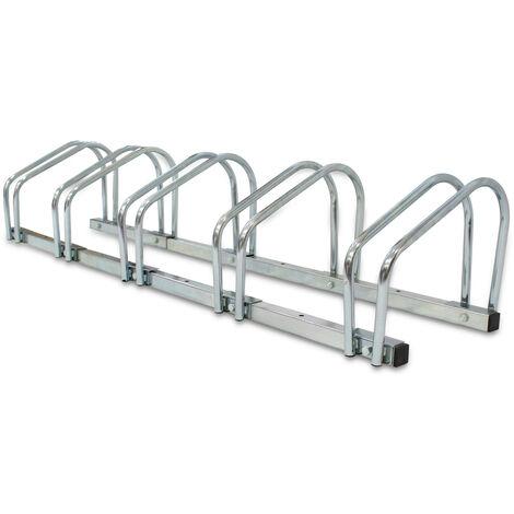 Portabiciclette, Portabici, Supporta 5 biciclette, Dimensione: 132 x 32 x 26 cm