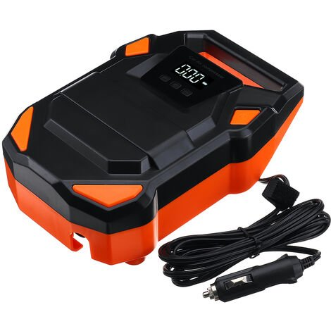 Portable 12V Electric Tire Inflator 150PSI Digital Display Air Compressor Pump with Digital LCD LED Light for Car Truck Bicycle Motor Bike RV and Other Inflatables
