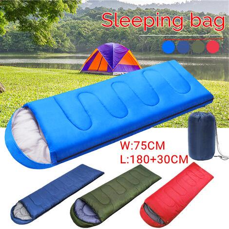 Portable 210 cm x 75 cm sac de couchage 1 personne coton Zip randonnée costume étui enveloppe étanche Camping en plein air couverture de voyage avec sac de transport marine bleu marin 700 grammes