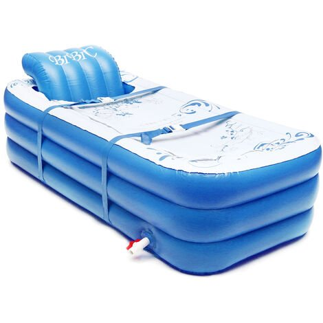 Portable Adults Children PVC Inflatable Bathtub Soaking Bathtub Hot Tub Spa Blow Up Mohoo
