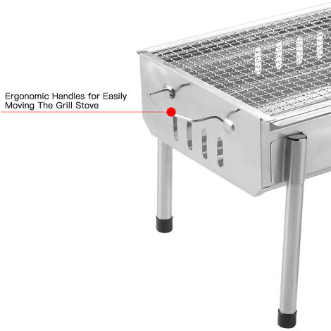 """main image of """"Portable Barbecue Charcoal Grill Stainless Steel Folding Camping BBQ Kabob Grill"""""""