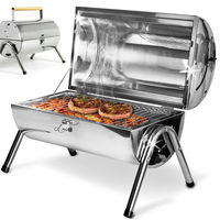 Portable Barbecue Grill Deuba Big Double Griddle BBQ Stainless Steel