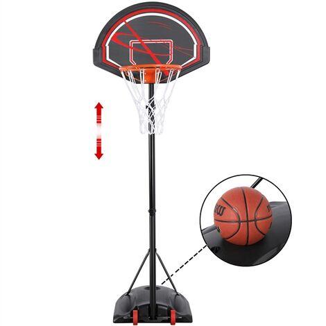 Portable Basketball Hoop 217-277 cm Adjustable Height Basketball Stand Freestanding Basketball Net