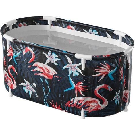 Portable Bathtub 117x70x60cm Navy Blue Bucket Indoor Outdoor Spa Adult Children