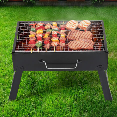 Portable BBQ Barbecue Charcoal Grill Outdoor Garden Picnic Stove Foldable Legs
