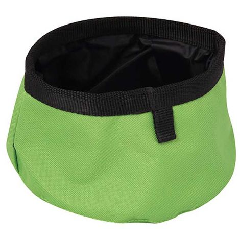 Portable bowl with nylon and cordura bag for dogs and cats