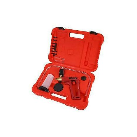 Portable Brakes Bleeding Bleeder Vacuum Pump Tool Kit And Gauge
