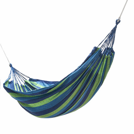 Portable Camping Leisure Hanging Bed Canvas Swing Drawstring Hammock