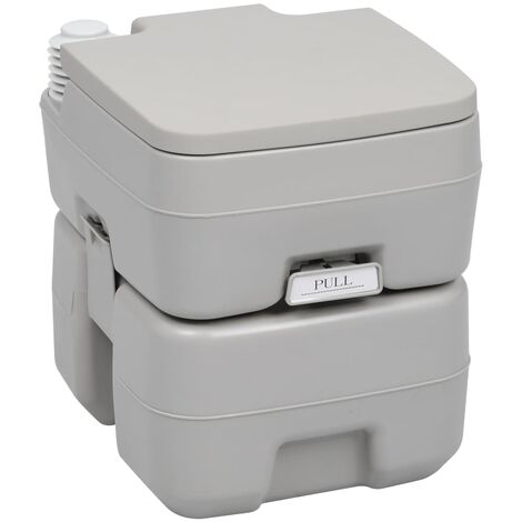 Portable Camping Toilet Grey 20+10 L