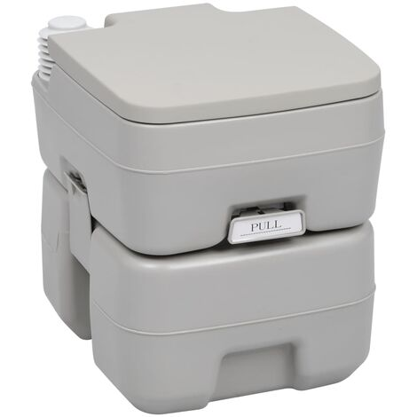 Portable Camping Toilet Grey 20+10 L - Grey