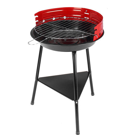 Portable Charcoal Barbecue Grill Stainless Steel Pan