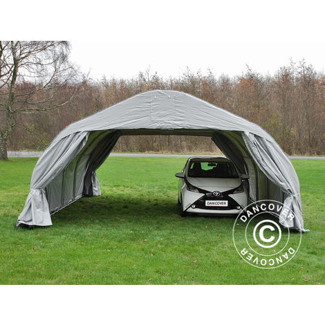 Portable double garage 5.4x6x2.9 m PVC, Grey