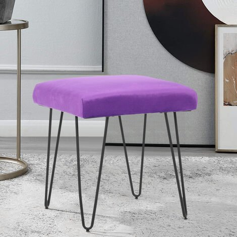 Portable Dressing Table Stool Makeup Bench Chair Soft Padded Cushion Piano Seats