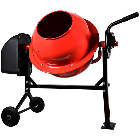 Portable Electric Concrete Cement Mixer 70L 275W 220V Mortar Plaster Drum Machine