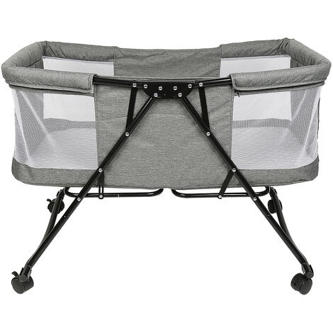 Portable foldable baby bed with mosquito net + universal wheel 106 * 92 * 55cm