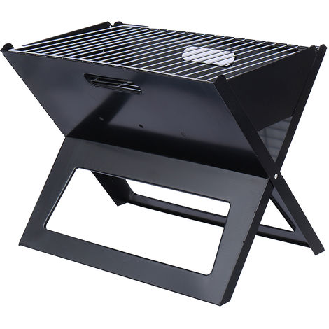 Portable Foldable Charcoal Barbecue Grill Stove Outdoor Garden Camping Picnic Hasaki
